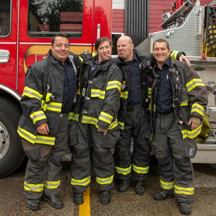 Firefighter friends