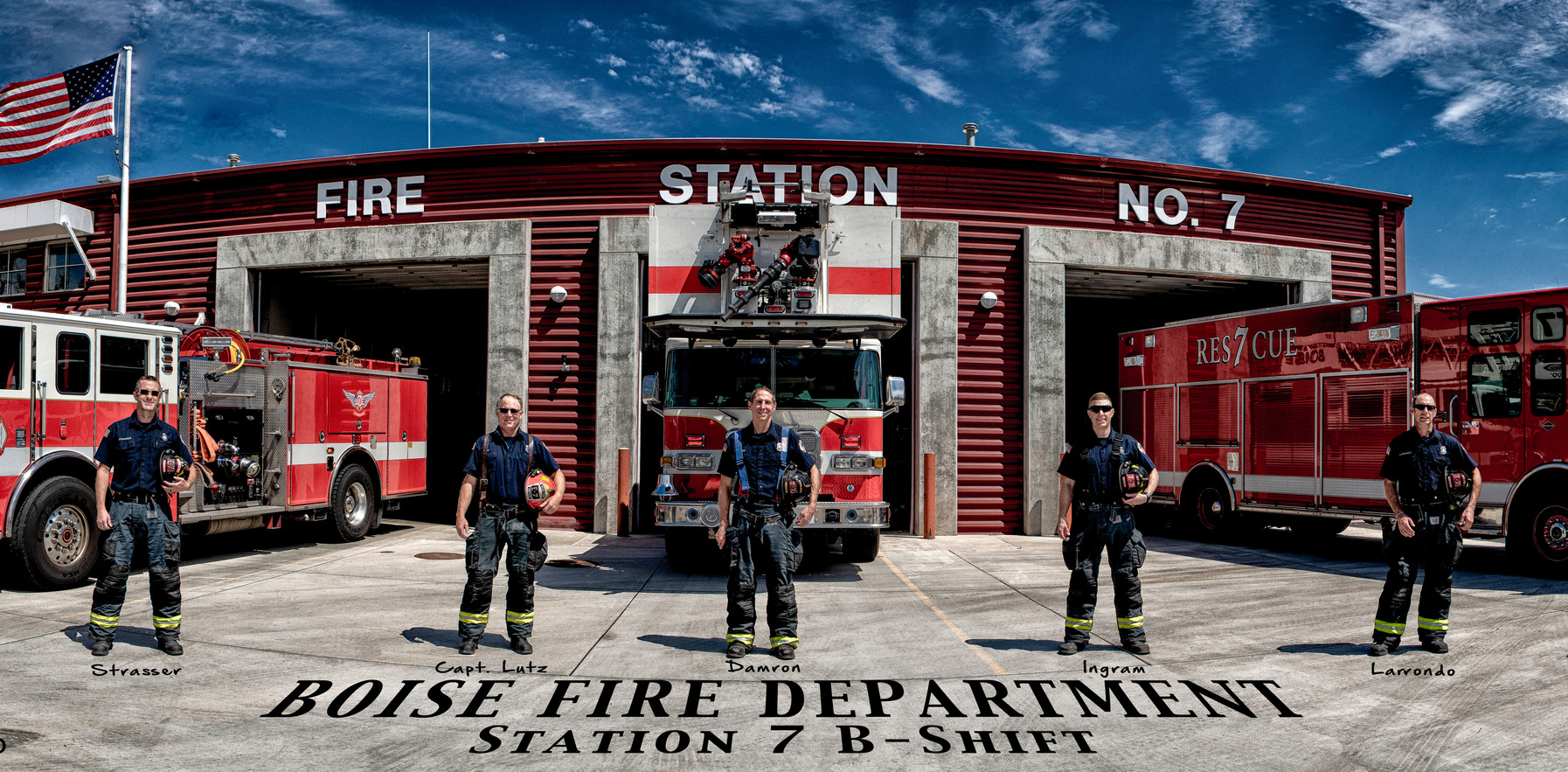 Smaller Boise Station 7 Holding Helmets