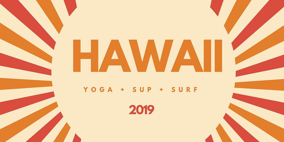 Hawaii : Yoga - SUP - Surf Eco Retreat