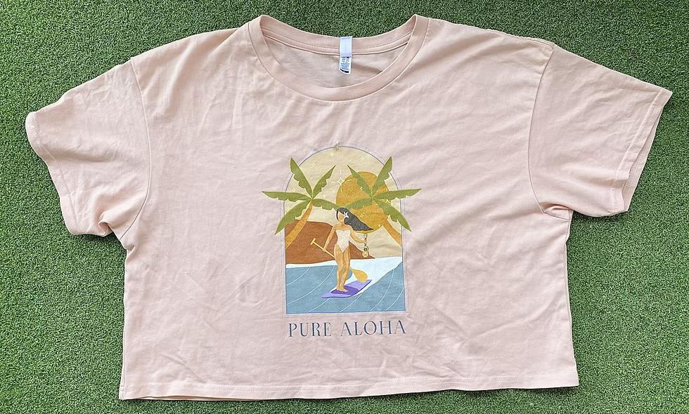 Pure Aloha Nalu Crop Tee