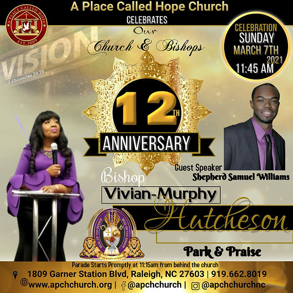 APCH 12th Pastor anniversary - Made with