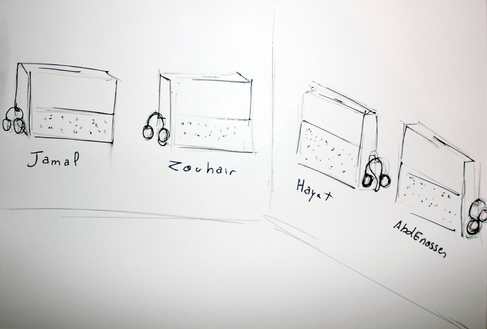 Waiting for Godot#the workers (confessions),2016 (sketch /audio boxes)