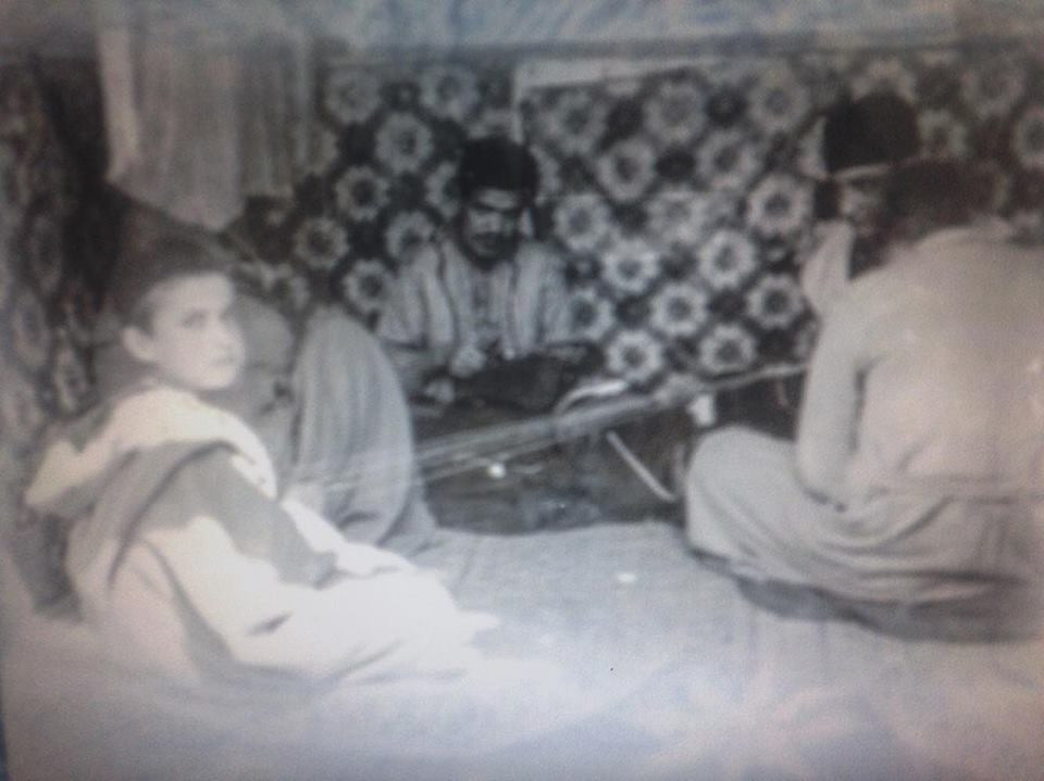 Photograph form the archive of Tetouan showing the master and the apprentice