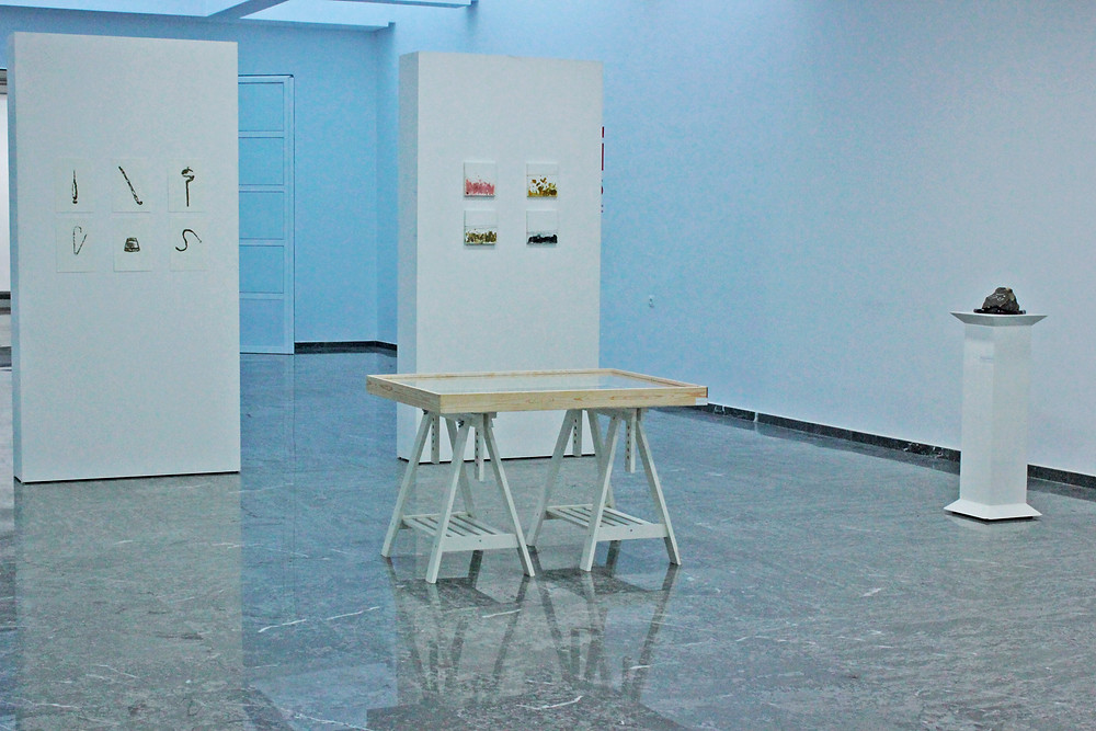 Exhibition view at THE CENTER OF MODERN ART in Tetouan               The works shown:o
