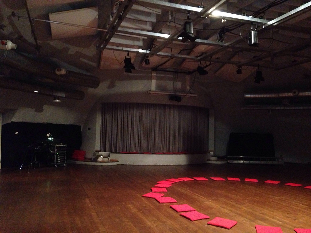 The stage where the performance was shown