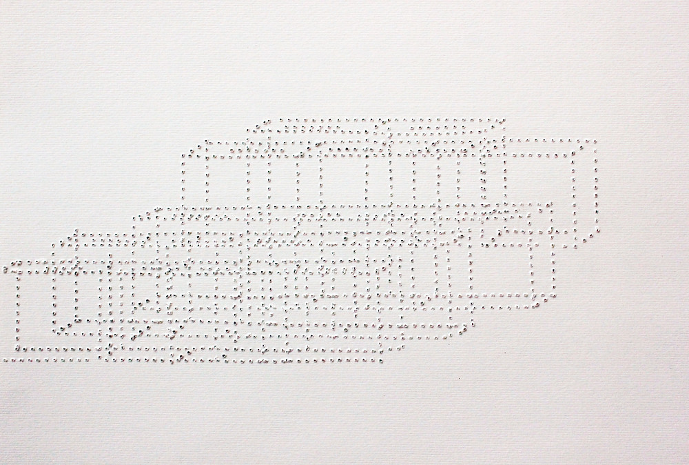 Waiting for Godot#the workers (supportive system), 2016Perforated Paper