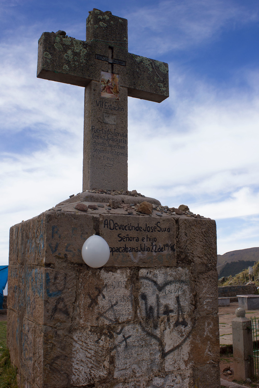AT Cerro el Calvario (one of the 17 shrines that you should put a stone and make a wish), Coppacabana, Bolivia, 2017