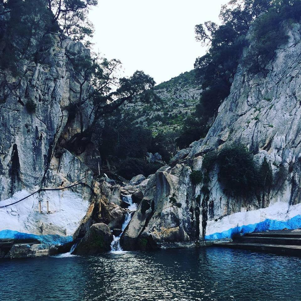 Zerka (the blue) water spring in the surroundings of Tetouan