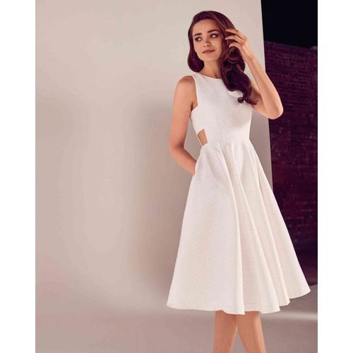 6d9e12867ab5ba TED BAKER Daisy Jacquard Cut Out Midi Dress