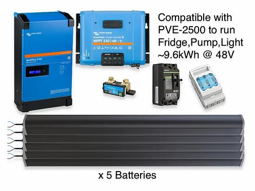 5kW/9.6kWh LTO VICTRON UPS
