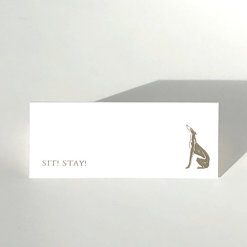 Place Cards: Sit! Stay!