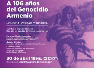 Conversatorio por el 106° aniversario del Genocidio Armenio