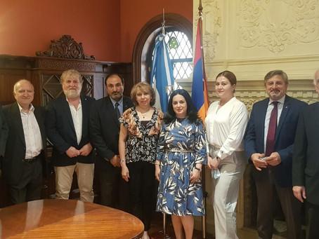 Representantes de IARA visitaron la Embajada de la República de Armenia en Argentina