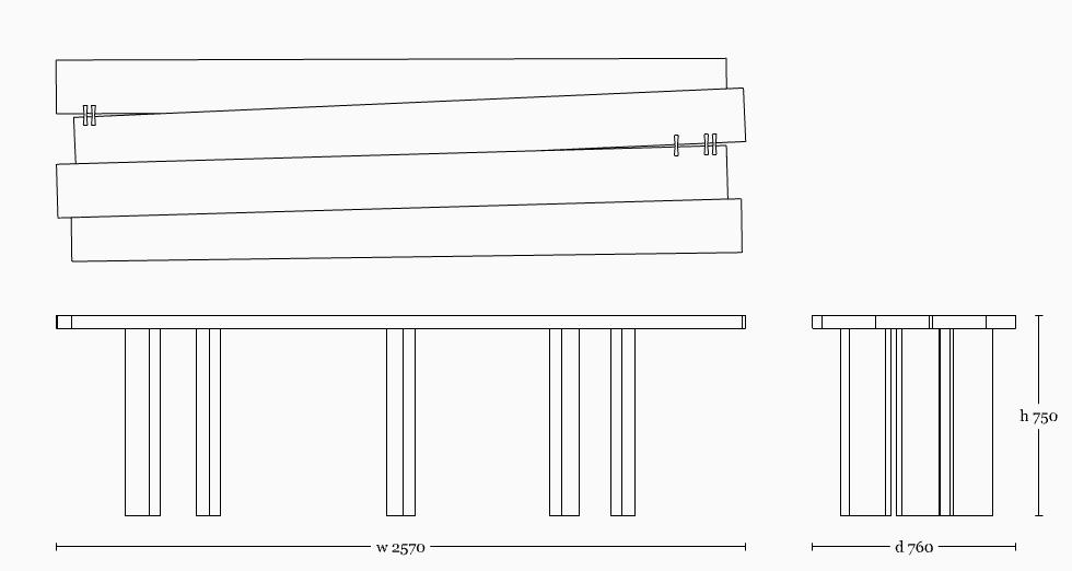 Mesa table 2500