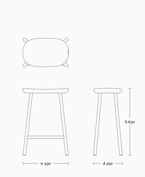Buacheen stool 630