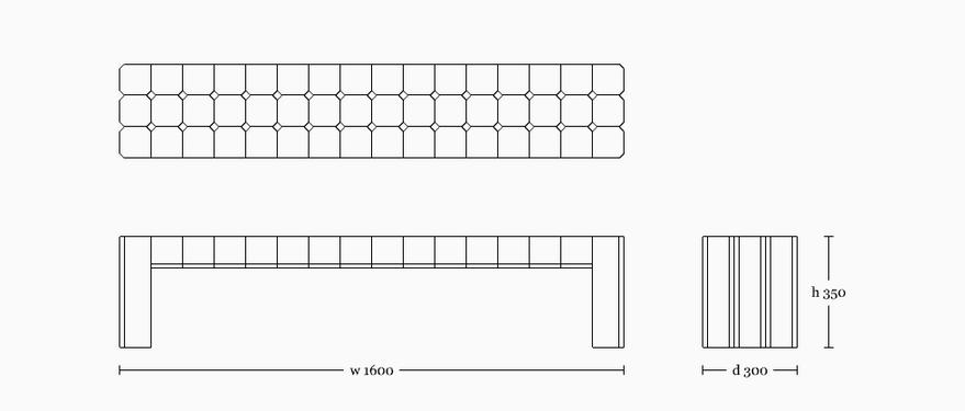 Walee bench 1600