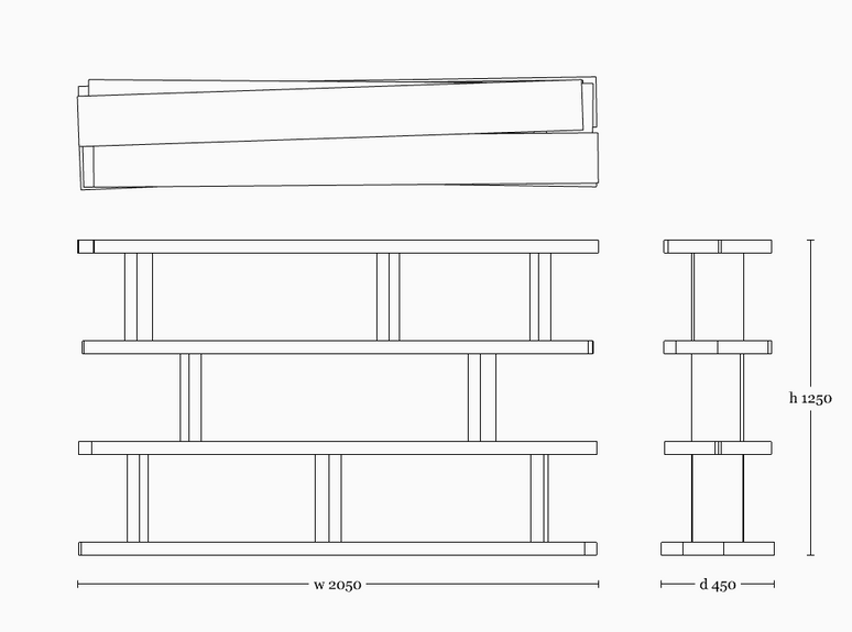 Mesa shelf 1250