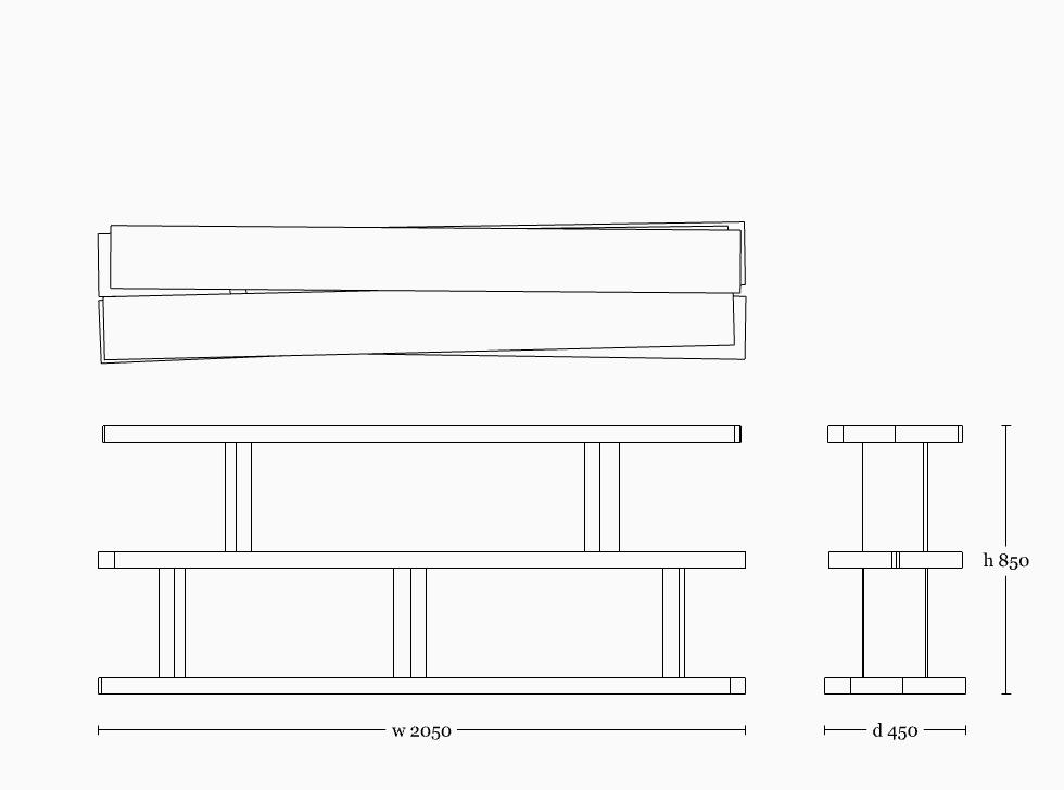 Mesa shelf 850