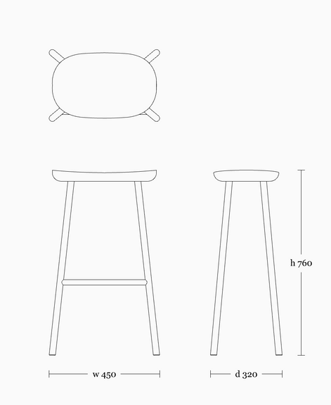 Buacheen stool 760