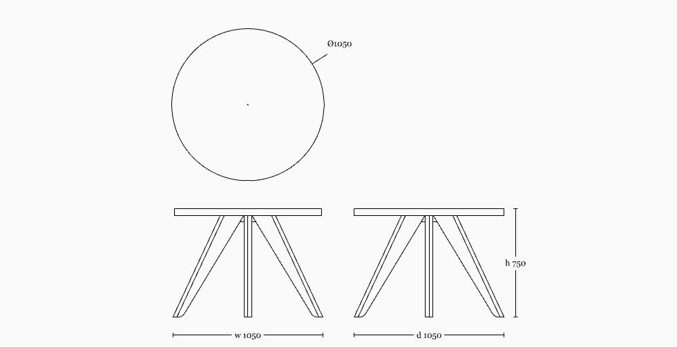 Kena table 1050(round)