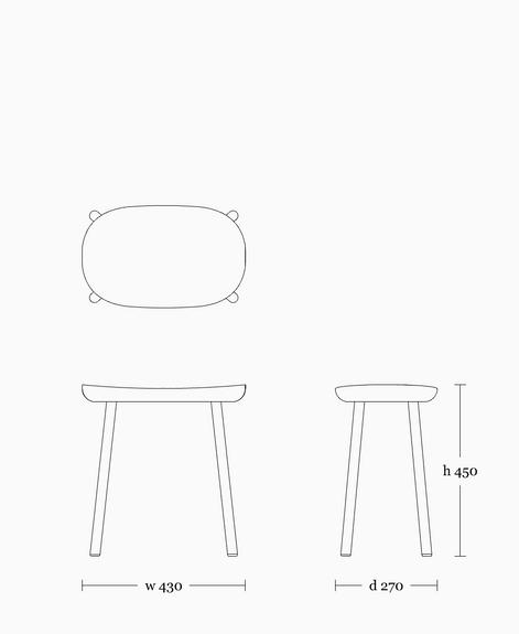 Buacheen stool 450