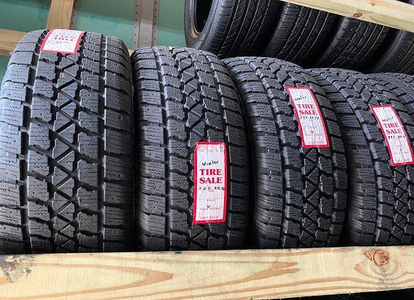 4 used tires 225/55R17 winter tires