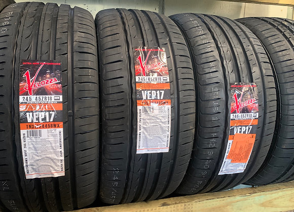 4 new tires 245/45R18 veloza $390 all including