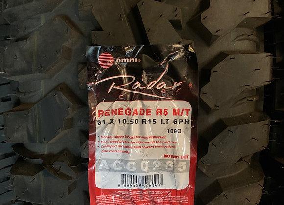 4 new tires 31x10.50R15 radar M/T