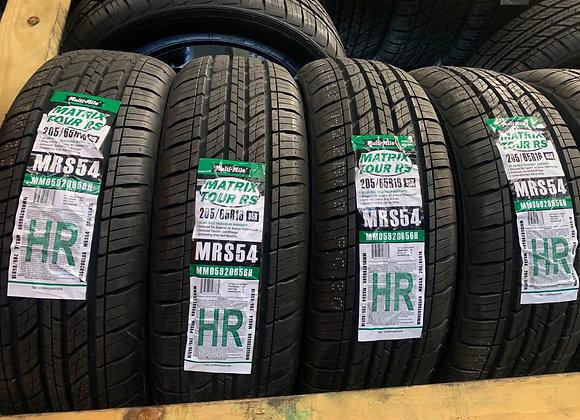 4 new tires 205/55R16 matrix tour