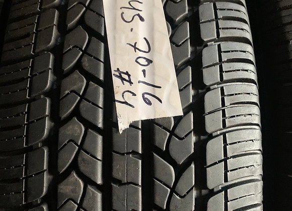 4 used tires 245/70R16 Goodyear