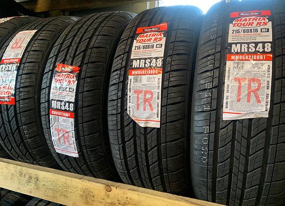 4 new tires 215/60R16 Matrix tour RS