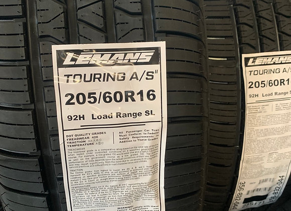 4 new tires 205/60R16  lemans Touring