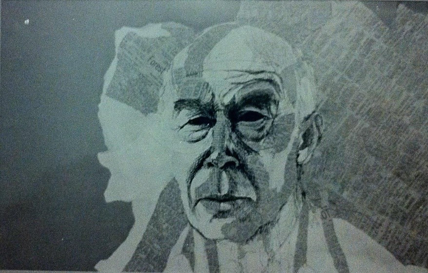 Henry Miller drawing by Dion Wright