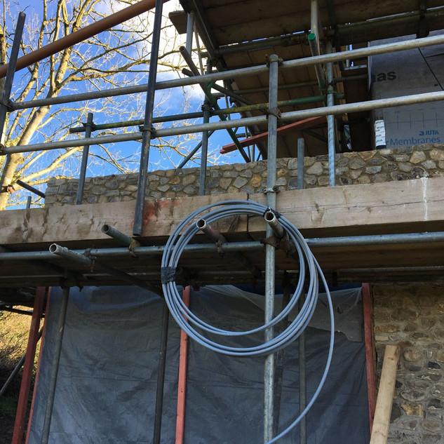 Stonework on main house nearly done