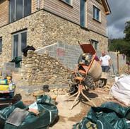 Nick's fantastic stonework in progress