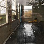 Garden room - site of asbestos
