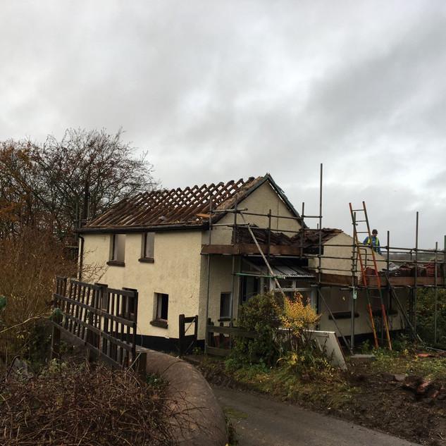 Cottage being prepared for demolition works