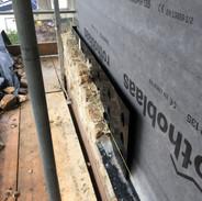 Beginnings of the stonework