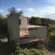 Cottage demolition - making way for the garage groundworks