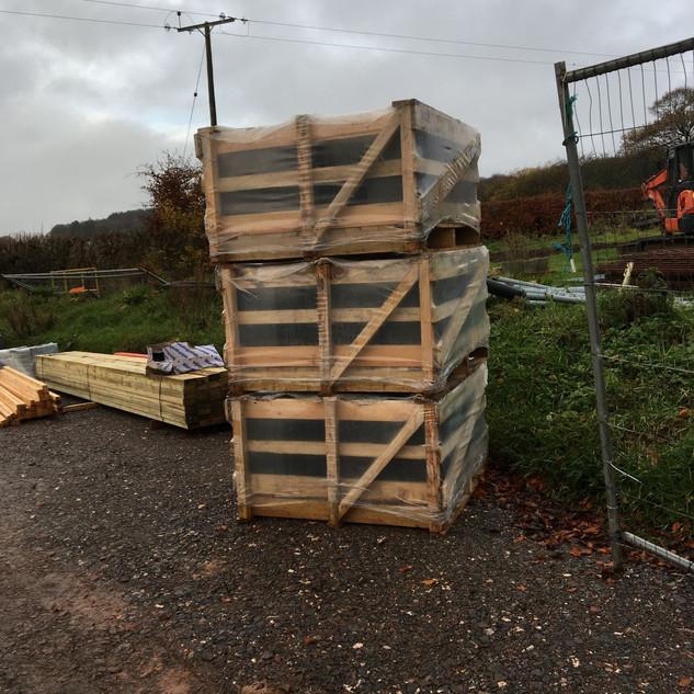 The slates have arrived