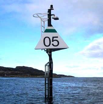 Hurtigbåtmerke med indirekte belysning (HIB)
