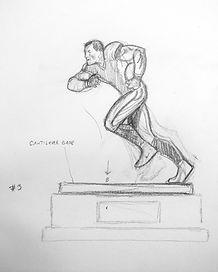 Original concept art for Jason Witten Award