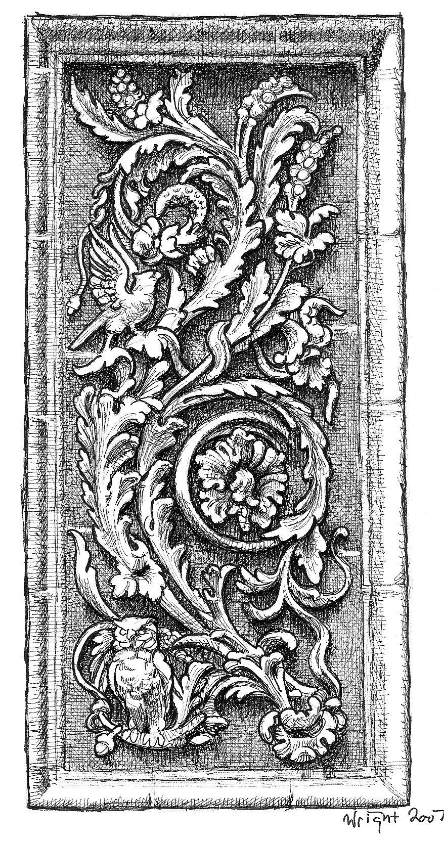 Owl frieze