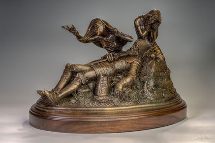The death of King Arthur sculpture by Deran Wright