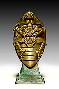 Scarab Beetle bronze sculpture by Deran Wright