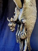 Dragon bronze sculpture by Deran Wright
