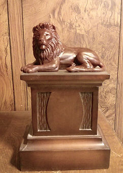 Watchful Gaze lion sculpture by Deran Wright