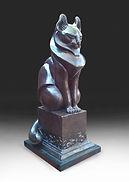 Bronze Cat sculpture by Deran Wright