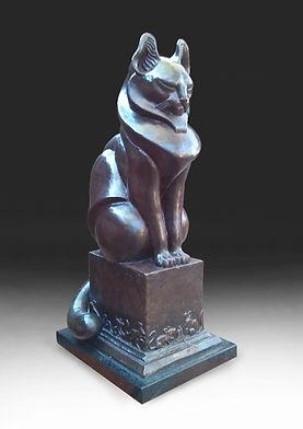 Bronze Cat by Deran Wright