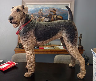 Airedale Terrier sculpture